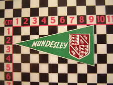 1960's Style Vintage Mundesley Holiday Pennant - Classic Camper Coach VW Car