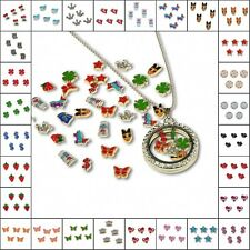 Wholesale 30pcs Mixed Random Charms lot Floating for Glass Living Memory Locket