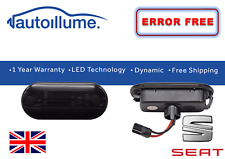 Seat Leon Mk1 Ibiza 6J Dynamic Sweeping Indicators Smoked LED Sequential Side