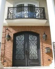 "Hand Crafted 12 Gauge Wrought Iron Doors by Monarch Custom Doors 72"" X 96"""