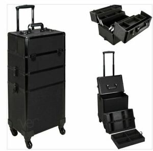Ver 7 in 1 Professional Rolling Cosmetic Makeup Aluminium Trolly Case