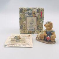 1999 Cherished Teddies Tanner Canadian Farmer 601624 Exclusive Figurine Enesco