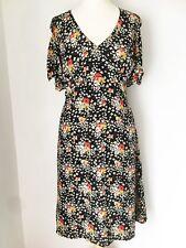JASPER CONRAN SILK DRESS 14 Vintage 40s Style, Ditsy Pretty Floral, sleeves