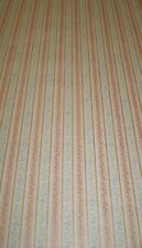 Vintage Pink, Gold & Beige Stripe with Small Blue Flowers by Fine Art 19499