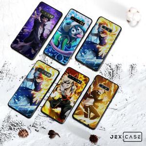 Anime My Hero Academia Black TPU Phone Case Cover For Samsung S8/S9/S10/S20 Plus