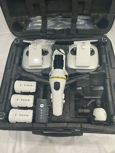 DJI INSPIRE ONE WITH EXTRAS WHITE 4 X BATTERIES 2 X NEW LEFT AND RIGHT NEW ARMS