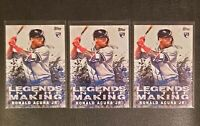 """2018 Topps Update Ronald Acuna RC """"Legends in the Making"""", rookie Lot of (3)"""