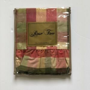 ROSE TREE | SUMMERTON | EURO SHAM | PLAID MOIRE | RUFFLES EGDE | NEW / NIP