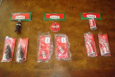 Lot of 9 Glitter Coca-Cola Christmas Ornaments by Kurt S Adler NEW!!