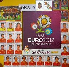 Complete Panini Euro 2012 Poland-Ukraine Set+6 Coca Cola Stickers & Empty Album