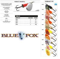BLUE FOX VIBRAX® UV Spinners 6g - 13g Various Colours
