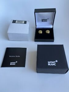 Montblanc Jewellery Etoile Buttom Covers(Cufflinks) Gold ident: 03580*No Reserve