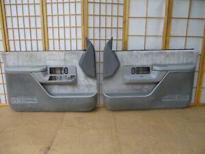 88-94 GMC Jimmy Chevy Blazer C/K Pickup Left Right GRAY Front Door Panel SET