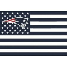 New England Patriots 3x5 Foot American Flag Banner