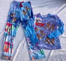 JUSTICE for Girls 2 pcs. Christmas Pajama Set Size 14 Elastic Drawstring LN