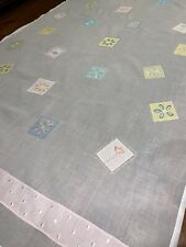 POTTERY BARN KIDS 100%COTTON WHITE Floral Embroidery 2 CURTAIN PANELS