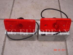 Mercedes G55 G500 G550 Genuine Red Side Reflector Set G