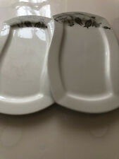 weiße servier platten 2x