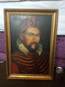 Antique Old Original Oil Painting Framed
