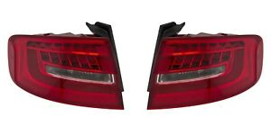 AUDI S4 SEDAN A4 WAGON 2013-2016 LED TAILLIGHTS TAIL LIGHTS REAR LAMPS PAIR NEW