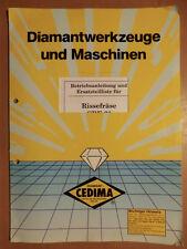 Ersatzteilliste und Betriebsanleitung für CEDIMA CRF-60 Risse-Fräse Ausgabe 1993