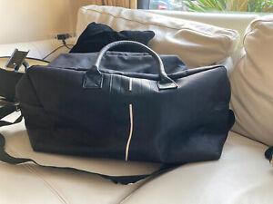 MONT BLANC Large Bag Holdall Travel Black Sport Shoulder Strap NEW 50cm X 33cm
