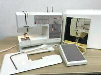 Bernina 1240 Sewing Machine Made in Switzerland With Hard Case Household used
