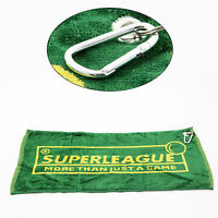 Quality Superleague Snooker & Pool Cue Towel with Handy Belt Clip!