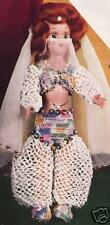 Crochet Doll QUEEN SHEBA Belly Dancer 7 Clothes Pattern
