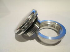 USA! ALUMINUM BILLET FILLER NECK WELD ON NON-VENTED SCREW CAP W/ O-RING OIL TANK