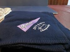 """Chase Bank Blanket Size 55"""" x 46"""" Blue Upstate N.Y. Blanket New in zippered bag"""