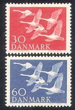 Denmark 1956 Northern Countries Day/Swans/Birds/Nature/Wildlife 2v set (n38625)