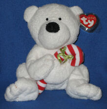 TY CANDY CANE the BEAR  PLUFFIES - MINT RETIRED