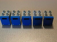 Mail Boxes 2x2x2 4345 4346 Post 5 Trans Orange Container Lego