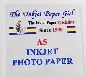 A5 108g High Grade Matte Photo Inkjet Paper 50 Sheets