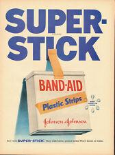 1955 Vintage ad for Johnson & Johnson Band-Aid Plastic Strips (072013)