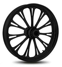 """RC COMPONENTS IMPERIAL BLACK 21"""" WHEELS PACKAGE SET TIRES HARLEY FLT/FLH 02-07"""