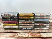 Lot of Vintage ROCK N ROLL Cassette Tapes Meatloaf, Chicago, Vanilla Ice, Gibson