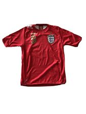 Football shirt soccer FC England Away 2006/2007/2008 Umbro Jersey Rooney #9 Sz M