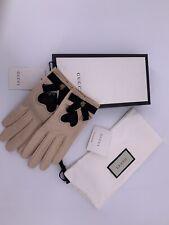 Neu Luxury Original GUCCI Damen Handschuhe-477970- Leder Große-7,5-M