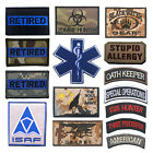 Embroidered Iron On / Sew On Military Tactical Patch Tape Army Morale Badge