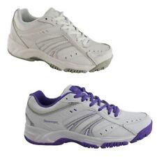 SLAZENGER Womens Baseline Running Athletic Sport Sports Yoga White Purple Shoes