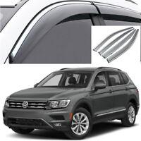 For VW VOLKSWAGEN TIGUAN 2007-2017 Window Visors Sun Rain Guard Vent Deflectors