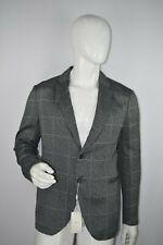 NWT $854 Armani Collezioni Men's Gray White Zigzag Print Suit Jacket Size 56 EUR