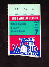 1979 WORLD SERIES GAME 7 TICKET STUB  Pittsburgh Pirates vs Baltimore Orioles