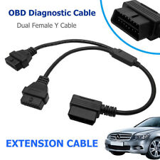 OBD2 OBDII 16 Pin Splitter Diagnostic Tool Adapter Male to Dual Female Y Cable
