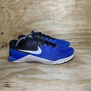 Nike Metcon 3 Men's Shoes Size 11.5 Blue Black Training Athletic 898055-401