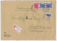BUND, Mi.132(2), 130, R-Oberammergau, 25.1.54, AKS, Brief 21-250g