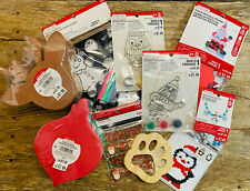 Large Lot Of 10 Packs Of Christmas Stickers/ Crafts/ Activities/ Kits For Kids!