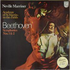 MARRINER Beethoven Symphonies 1 & 2 1971 PHILIPS 6500 113 Holland NM